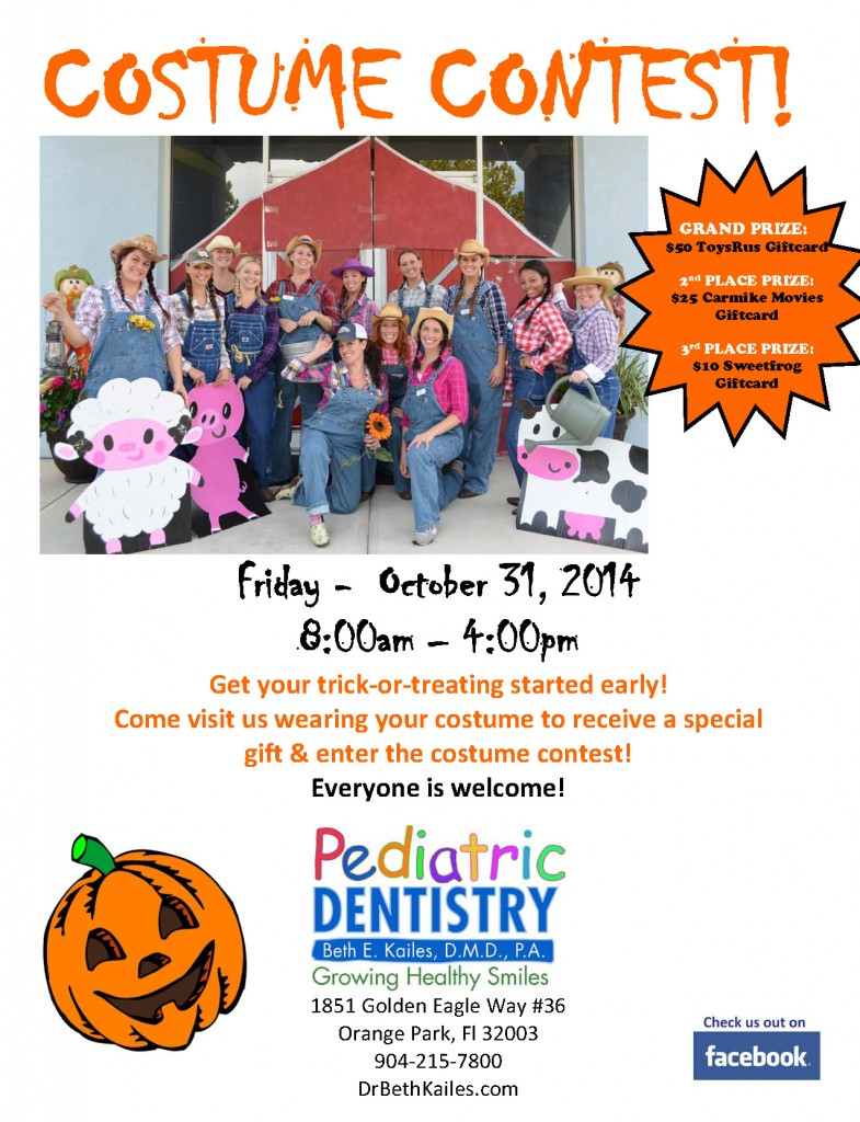 Halloween Costume Contest - Pediatric Dentistry Orange Park Dr ...
