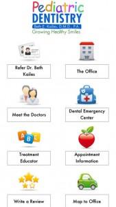 iPhone App screen 1